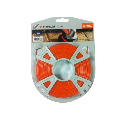 Genuine Stihl Trimmer line ROUND (ORANGE) 2.4mm x 43M Product Code 0000 930 2339